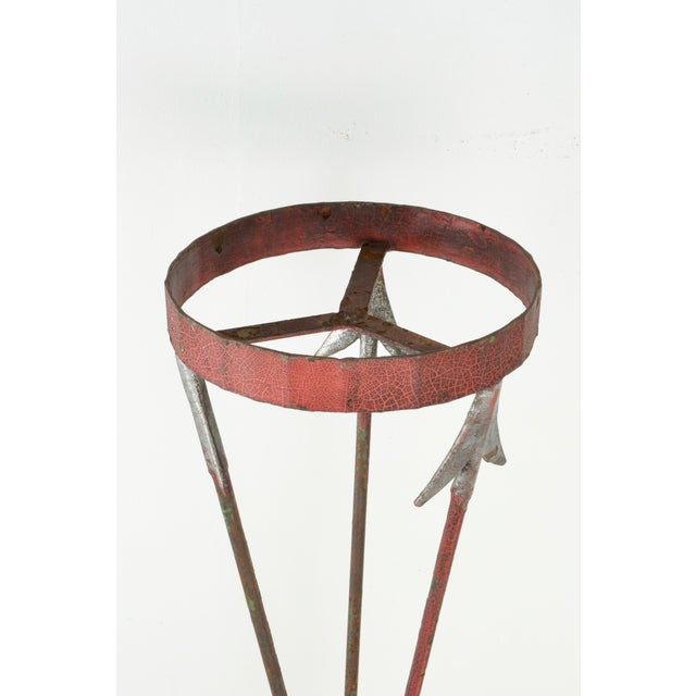 1920s Neoclassical Style Cast Iron Plant Stand For Sale - Image 5 of 9