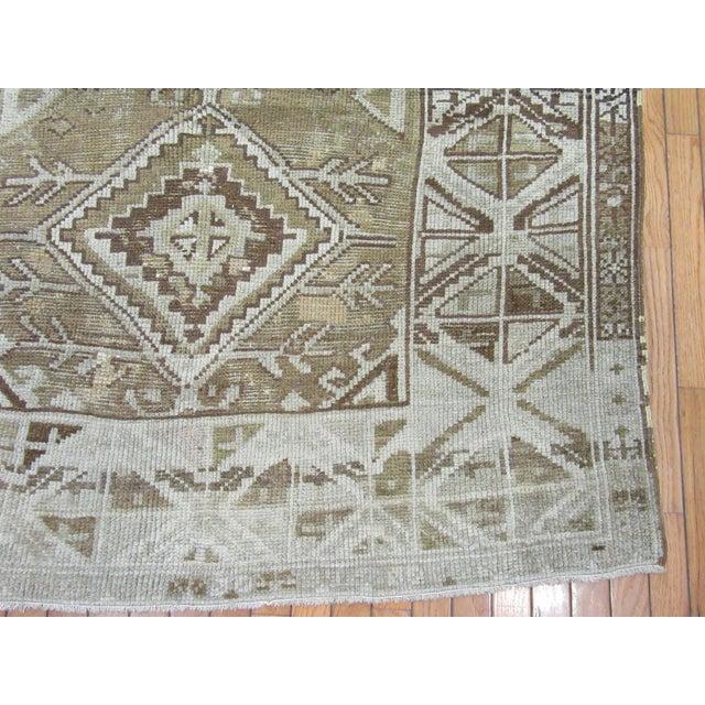 "Traditional 1960's Vintage Handmade Wool Turkish Anatolian Area Rug-4'10'x10'3"" For Sale - Image 3 of 10"