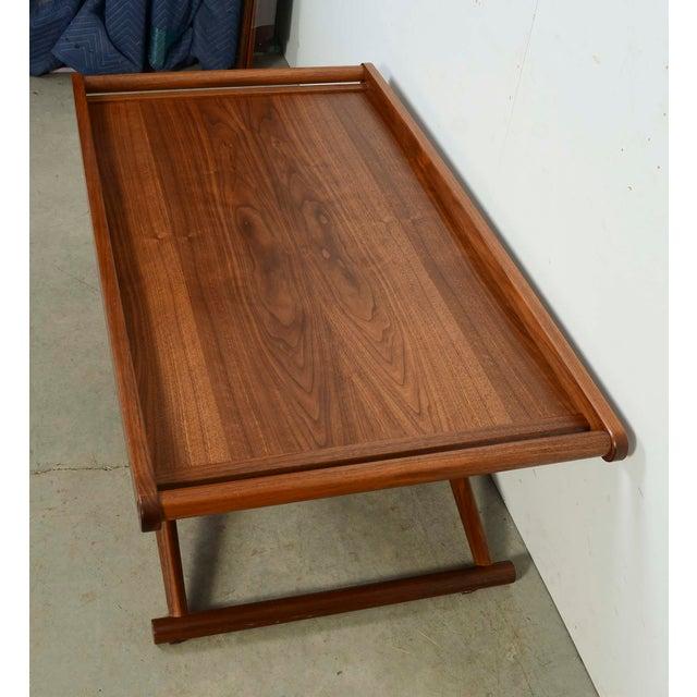 Mid-Century Modern Modern Richard Wrightman Matthiessen Walnut Coffee Table For Sale - Image 3 of 10