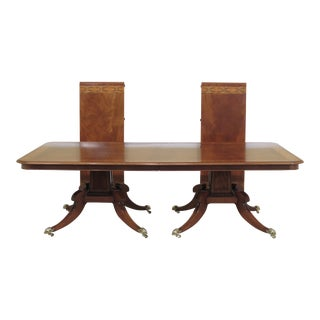 English Made Adam Paint Decorated Dining Room Table For Sale