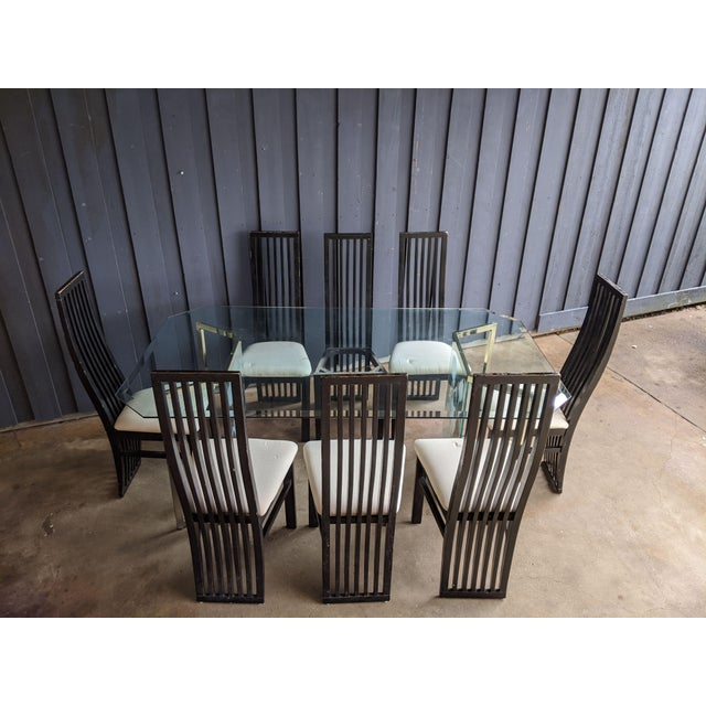 1980s Contemporary Dining Chairs - Set of 8 For Sale In Dallas - Image 6 of 10