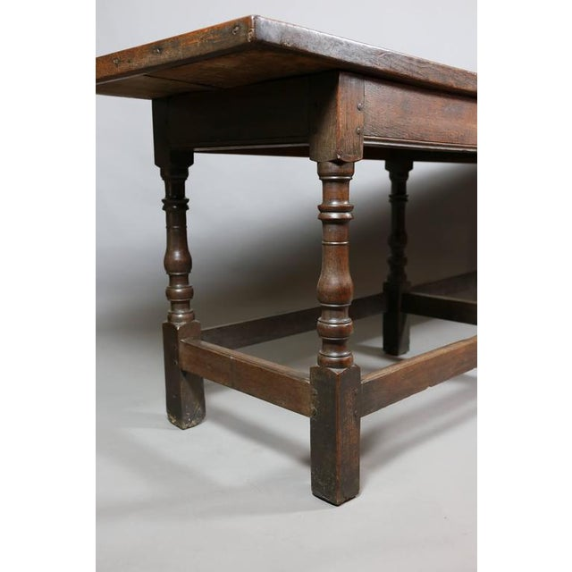 Jacobean Oak Refectory Table For Sale - Image 9 of 10