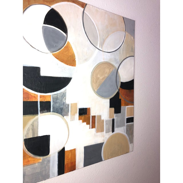 Contemporary Modernist Shapes Abstract Acrylic Painting For Sale In Seattle - Image 6 of 8