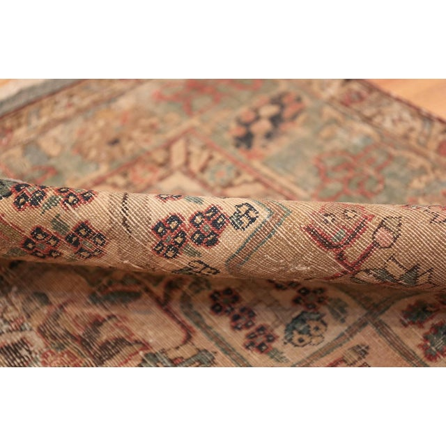 17th Century Small Size Persian Khorassan Rug For Sale - Image 4 of 13