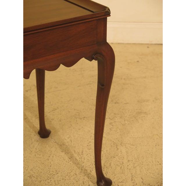 Queen Anne Henkel Harris Queen Anne Williamsburg Style Tea Table For Sale - Image 3 of 11