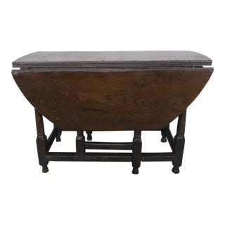 19th C. English Walnut Gateleg Drop Leaf Table For Sale