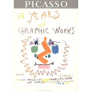 1966 Pablo Picasso '60 Years of Graphic Works' Cubism Multicolor France Lithograph For Sale