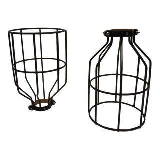 Black Metal Cage Shades - a Pair