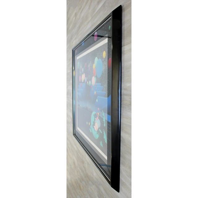 Contemporary Contemporary Modern Framed Signed Serigraph Stan Solomon After Beginning 1980s For Sale - Image 3 of 9