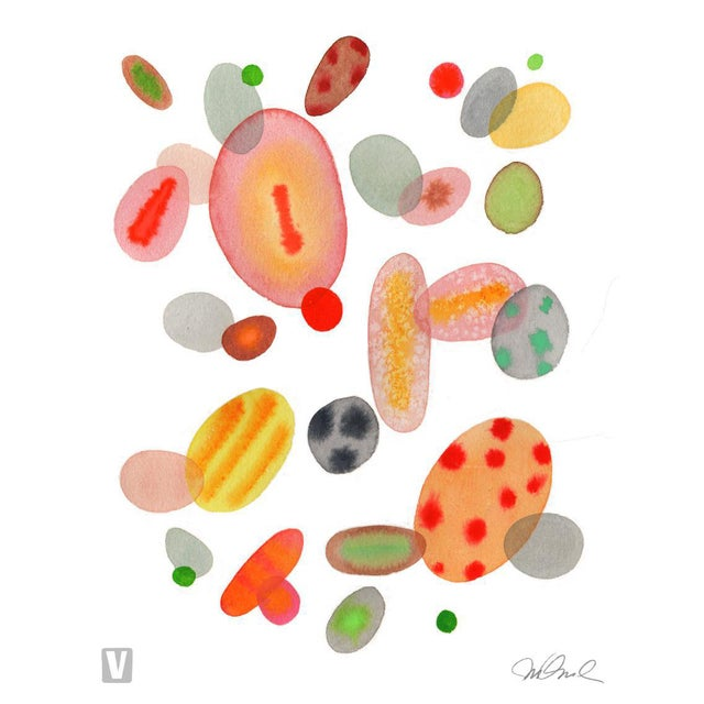 """Color Cells, Giclee Print 16x20"""" Watercolor For Sale"""