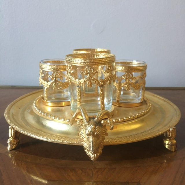 Italian Vintage Italian Centerpiece With Ram's Heads For Sale - Image 3 of 9