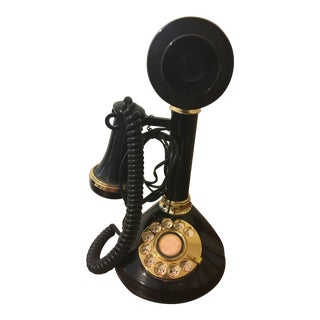 Working 1970s Candlestick Phone Tt Systems Corporation with Original Warranty For Sale