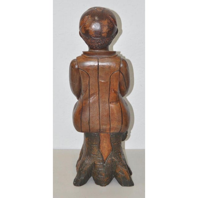 19th Century American Folk Art Hand Carved Seated Boy - Image 3 of 5