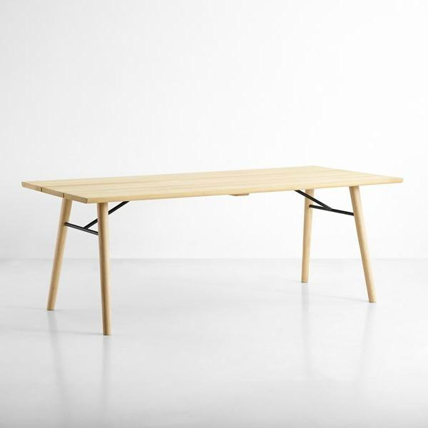 Woud Spilt Soaped Oak Dining Table For Sale - Image 5 of 5