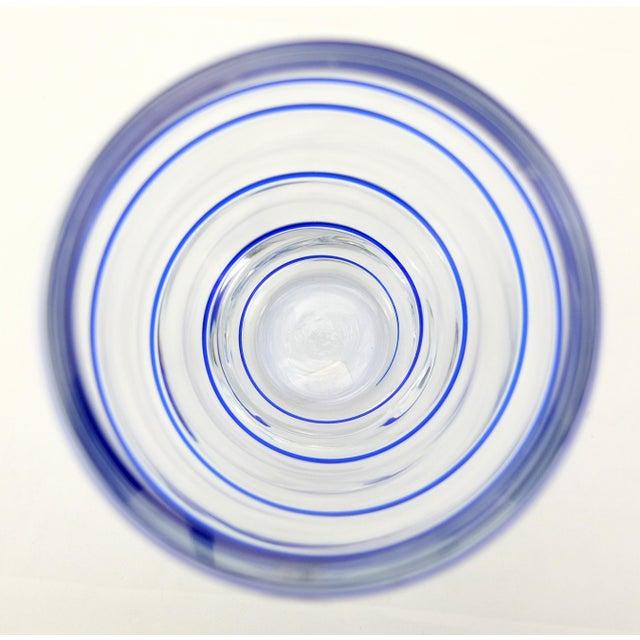 V. Nason & C. Italian Murano Glass Vase With Blue Spiral Stripe For Sale In Miami - Image 6 of 7