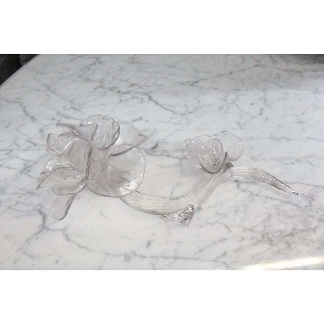 Mid 20th Century Vintage Art Glass Rose For Sale - Image 5 of 5