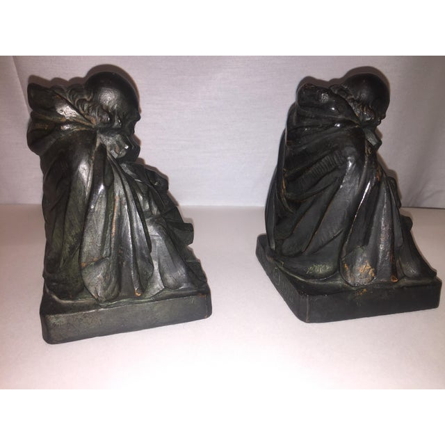 1915 S. Morani Armor Bronze Bookends - a Pair - Image 7 of 10