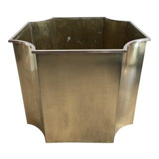Modern Brass Planter Box