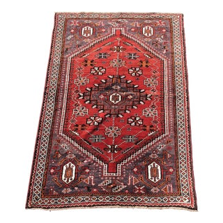 Vintage Persian Shiraz Weaved Rug - 5'x7'10""