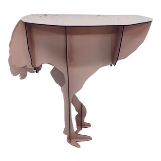 "Limited Edition iBride ""Diva"" Ostrich Console Table by Rachel and Benoît Convers For Sale"