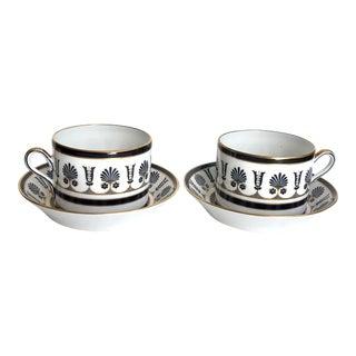 Richard Ginori Cups & Saucers, Pair For Sale