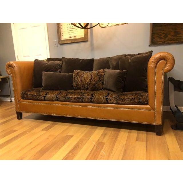 Superb Ralph Lauren Leather Brompton Sofa Inzonedesignstudio Interior Chair Design Inzonedesignstudiocom