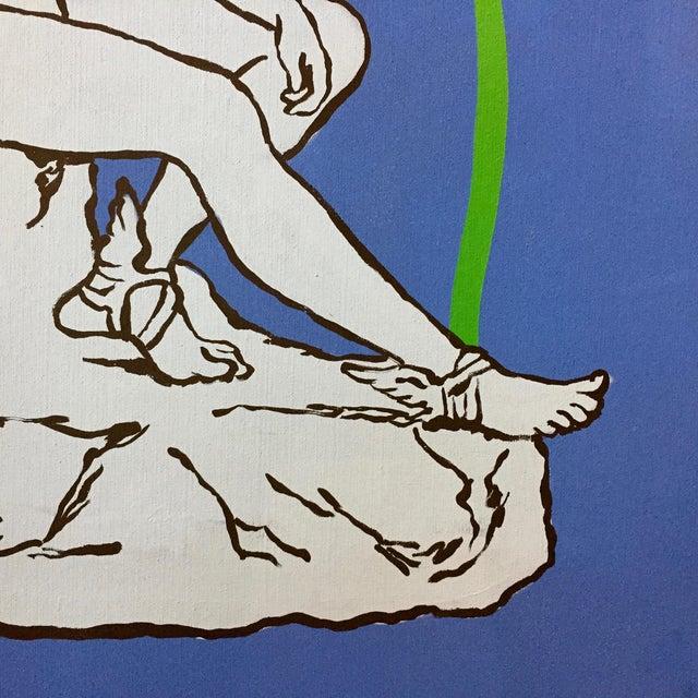 "Figurative Patrick Moya ""Mercure Bleu"" Acrylic, France For Sale - Image 3 of 9"