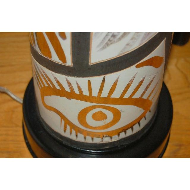 Black Marbro Italian Porcelain Floor Lamp Gold For Sale - Image 8 of 12