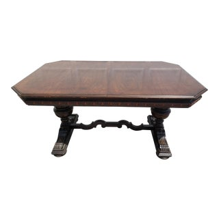 Jacobean Dining Table With Extension For Sale
