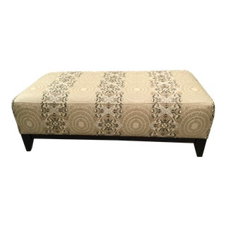 Robert Allen Transitional Embroidered Faux Silk and Natural Fiber Suzani Print Bench For Sale