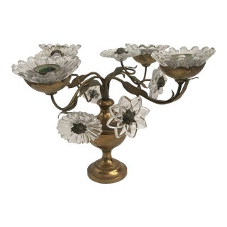 19th Century Neoclassical Ornate Tole Candelabra For Sale