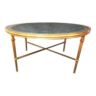Modern Lillian August Round Metal and Mirror Cocktail Table For Sale
