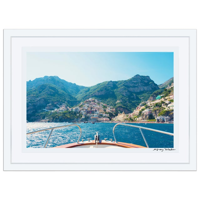 "Gray Malin Large ""Positano Coast"" Framed Limited Edition Signed Print - Image 1 of 2"