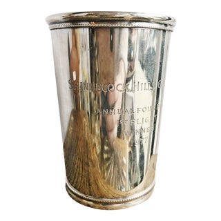 1977 Tiffany & Co Sterling Silver Golf Trophy Julep Cup For Sale
