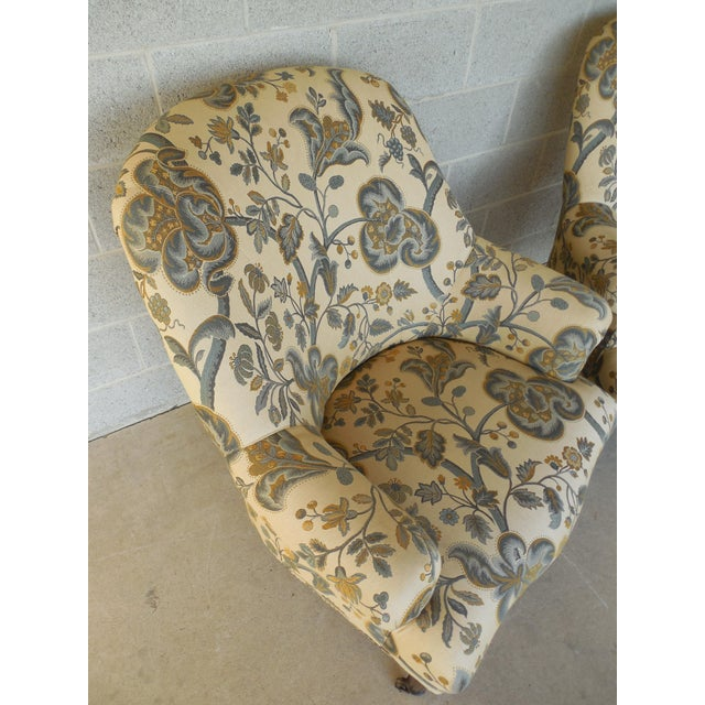Kravet Furniture Regency Style Accent Club Chairs - A Pair - Image 6 of 11