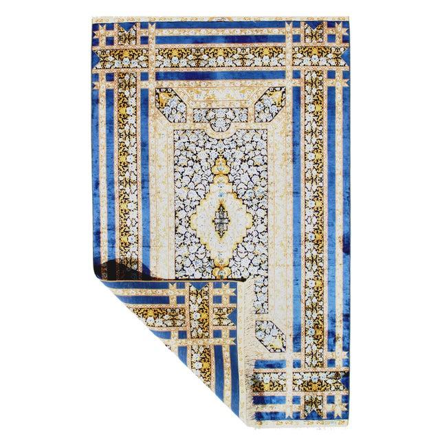 Original SINO Herekeh Qum Design A. Silk This rug has a dense, soft pile, and excellent quality, to ensure that you will...