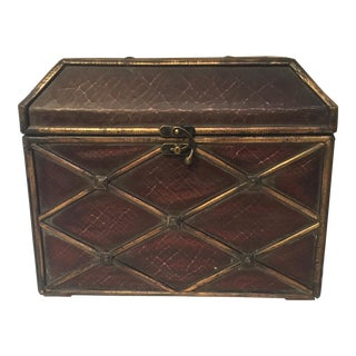 "Crackle ""Leather"" Treasure Chest For Sale"
