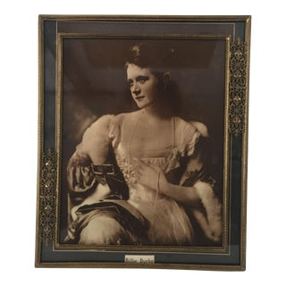 Victorian Brass Filigree Picture Frame Featuring Billie Burke Photo Print