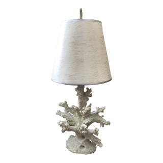 Barclay Butera White Coral Cassidy Table Lamp With Shade For Sale