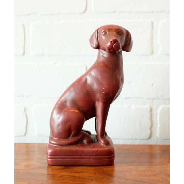 1970s Vintage Red Dog Bookends - a Pair For Sale - Image 5 of 9