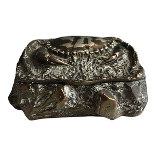 Late 19th Century English Metal Crab Box For Sale