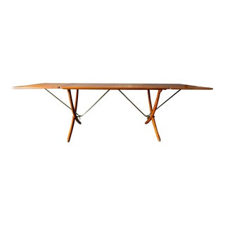 Hans Wegner for Andreas Tuck Model At-304 Dining Table, Circa 1955 For Sale