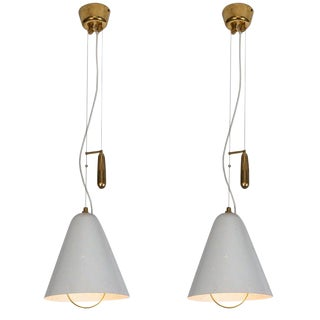 1940s Paavo Tynell 'A1942' Counterweight Pendants for Idman Oy - a Pair For Sale