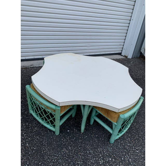 Vintage Regency Palm Beach Bamboo Table and Chairs - 5 Pieces For Sale - Image 13 of 13