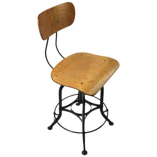 Classic Industrial Task Stool by the Toledo Metal Furniture Company For Sale