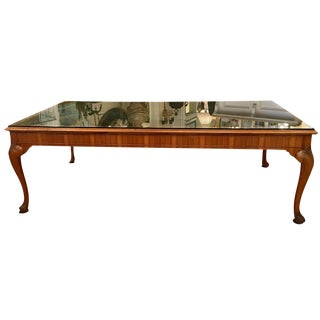 Maple & Co. Antique English Library Table Desk For Sale
