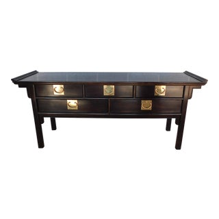 "Century Furniture Co. Asian Style Alter Console Table 73""w For Sale"
