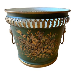 Antique French Tole Jardiniere For Sale