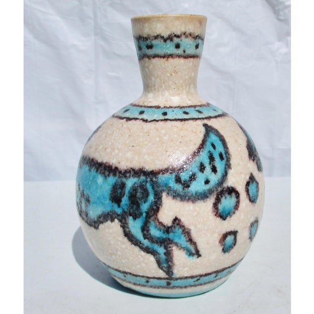 Guido Gambone 1950s Vintage Guido Gamboni Ceramic Hound and Fox Vase For Sale - Image 4 of 6