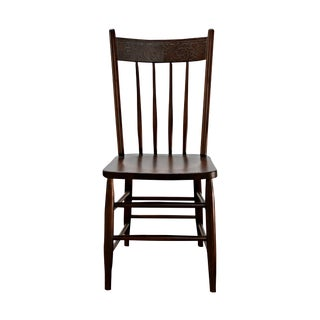 Antique Carved Wood Chair For Sale